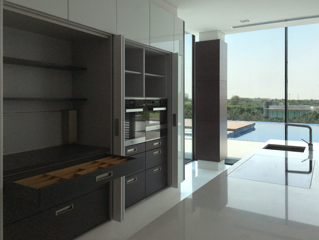 HQ Al Khawaneej Private Villa Kitchen Project by Goettling Interiors