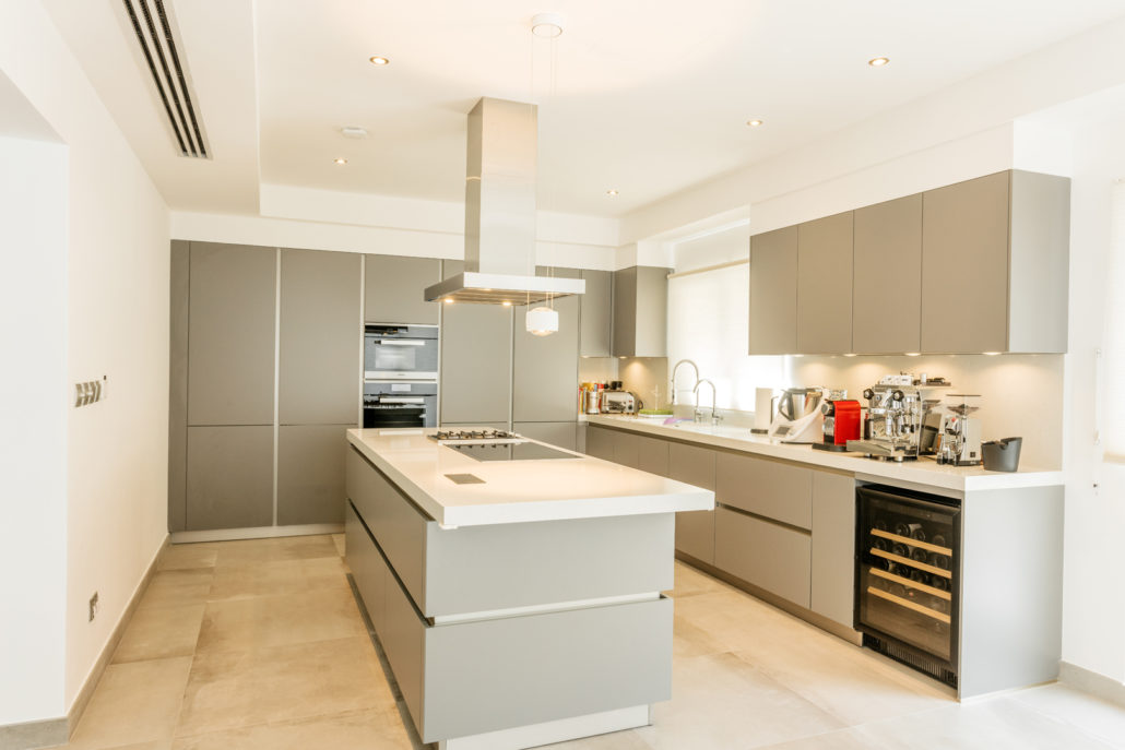 SS Meadows 5 Villa Kitchen & Lighting Project by Goettling Interiors