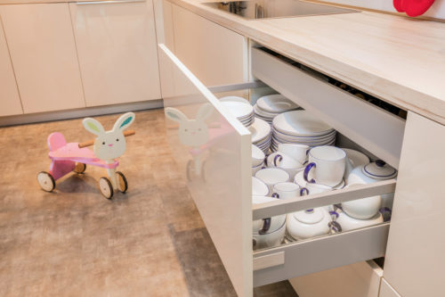 AH Jumeirah Living (WTC) Apartment Kitchen & Flooring by Goettling Interiors