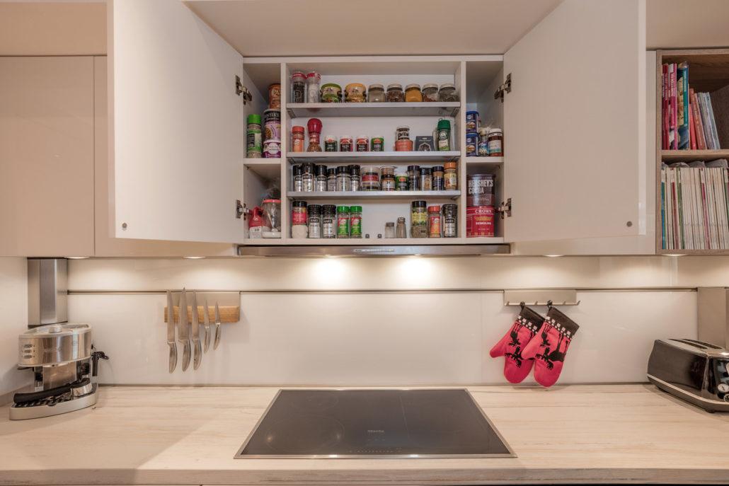 AH Jumeirah Living (WTC) Apartment Kitchen & Flooring by Goettling Interiors