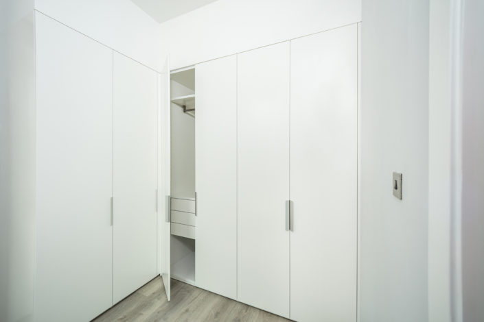 Executed Project, Dubai, Old Town, Business Bay, Interlübke wardrobe, German brand, small space maximum storage