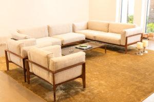 Executed Project, Dubai, Jumeirah, COR furniture, German brand, living room, Miinu carpet, simple