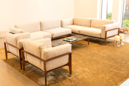 Executed Project, Dubai, Jumeirah, COR furniture, German brand, living room, Miinu carpet, simple