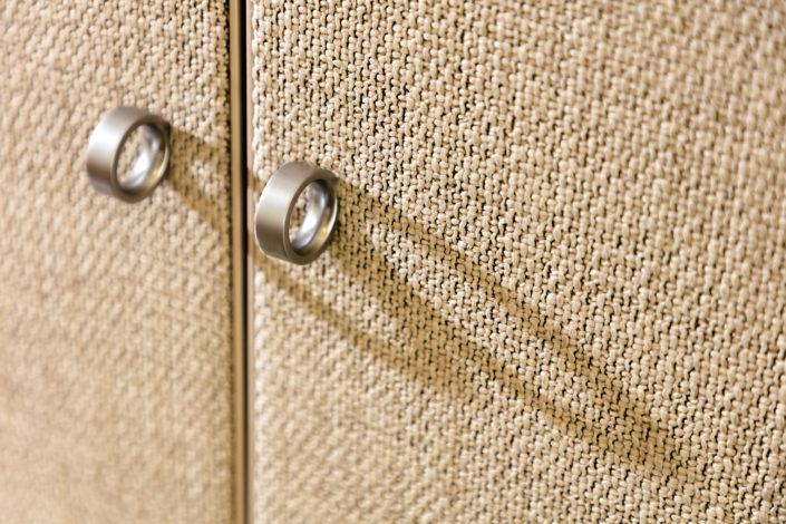 Executed Project, Dubai, Jumeirah, Interlübke wardrobe, German brand, small space maximum storage, soft finish; cloth cladded door, Magrudy