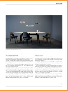Occhio Lighting article in Identity Magazine, Featuring Mito Sospeso - lighting models from Occhio