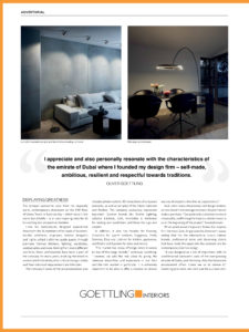 Occhio Lighting article in Identity Magazine, Featuring Mito Largo, Sento and Piu - all lighting models from Occhio