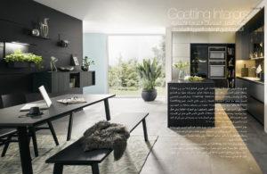 Publication, editorial, lamasat magazine, magazine, kitchen special, goettling interiors, arabic, black kitchen, dubai, uae, german kitchen for dubai