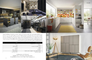 Article in Lamasat magazine, Publication, editorial, lamasat magazine, magazine, kitchen special, goettling interiors, arabic, black kitchen, dubai, uae, german kitchen for dubai