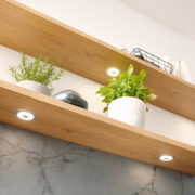 Floating Shelves with dimmable mood light