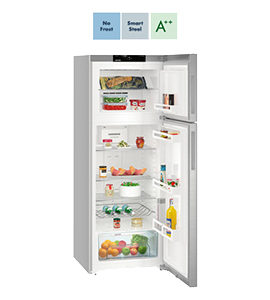 product photo of freestanding fridge by liebherr with features thumbnails