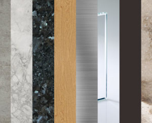 quartz, ceramic, stone, hardwood, metal, glass, laminate, composite materials for countertop in kitchen