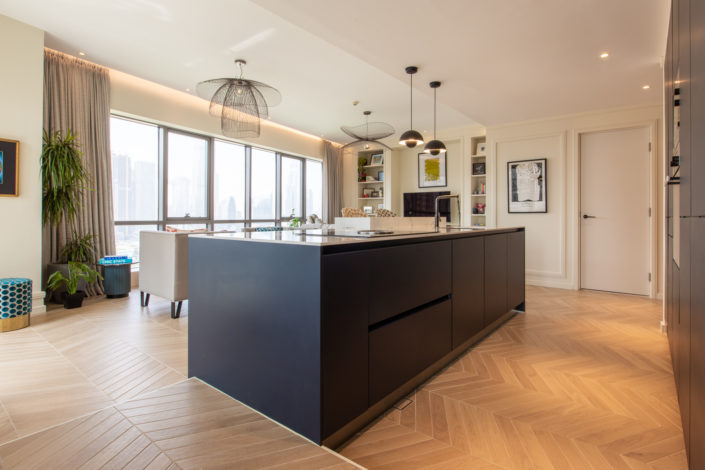 KH South Ridge Tower Apartment Kitchen Project by Goettling Interiors