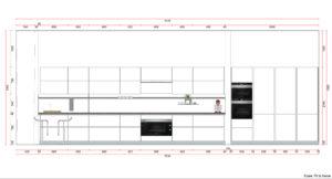Digital Kitchen Elevation - Goettling Interiors