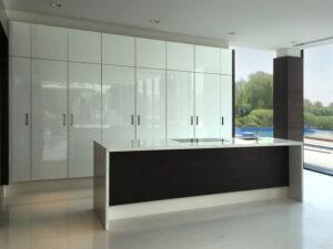 HQ Al Khawaneej Private Villa Kitchen Project by Goettling Interiors (Pocket Doors Open)