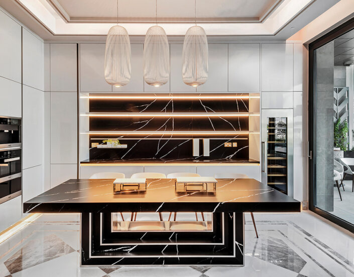 RB Dubai hills Kitchen Project by Goettling Interiors (SHOW KITCHEN)