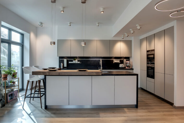 NS The Greens Apartment Kitchen, Lighting & flooring Project by Goettling Interiors - Part 1