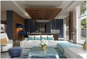 BK Umm Al Sheif Private Villa Kitchen Project by Goettling Interiors (3D Render)