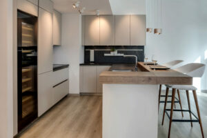 NS The Greens Apartment Kitchen, Lighting & flooring Project by Goettling Interiors – Part 2