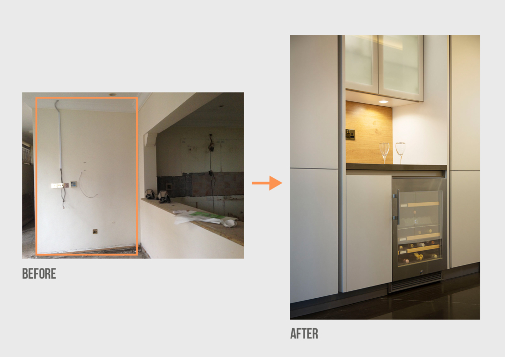 Before&After NK Palm Jumeirah Villa Kitchen Project by Goettling Interiors