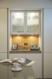 NK Palm Jumeirah Villa Kitchen Project by Goettling Interiors - Coffee nook