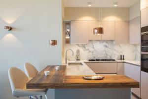 GL Maple 3 Dubai Hills Villa Kitchen, Lighting & Flooring Project by Goettling Interiors