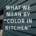 Color in Kitchen by Goettling Interiors
